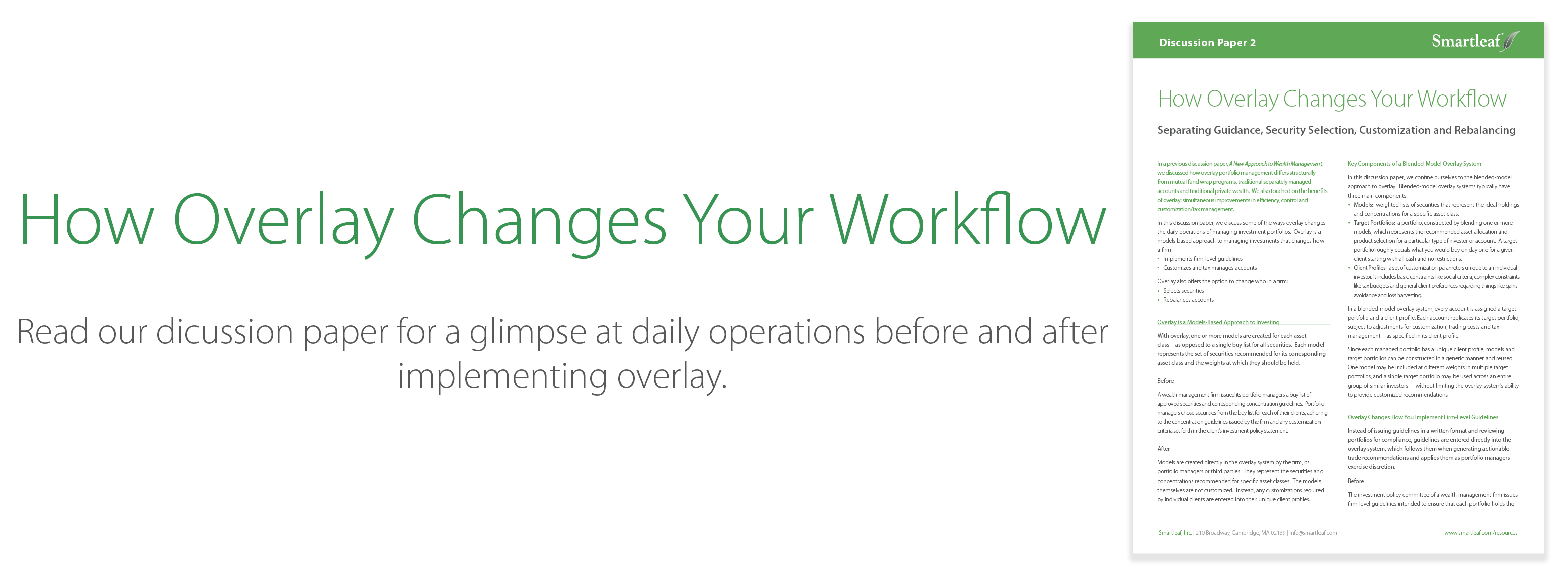 How Overlay Changes Workflow