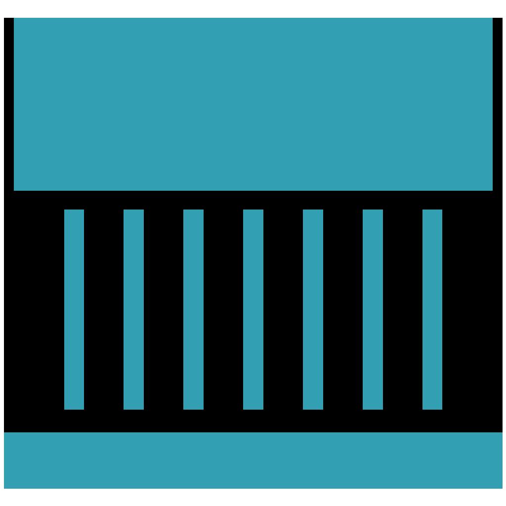 blue bank icon
