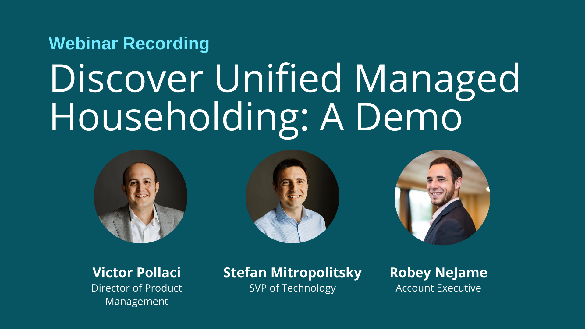 Video: Discovering Unified Managed Householding