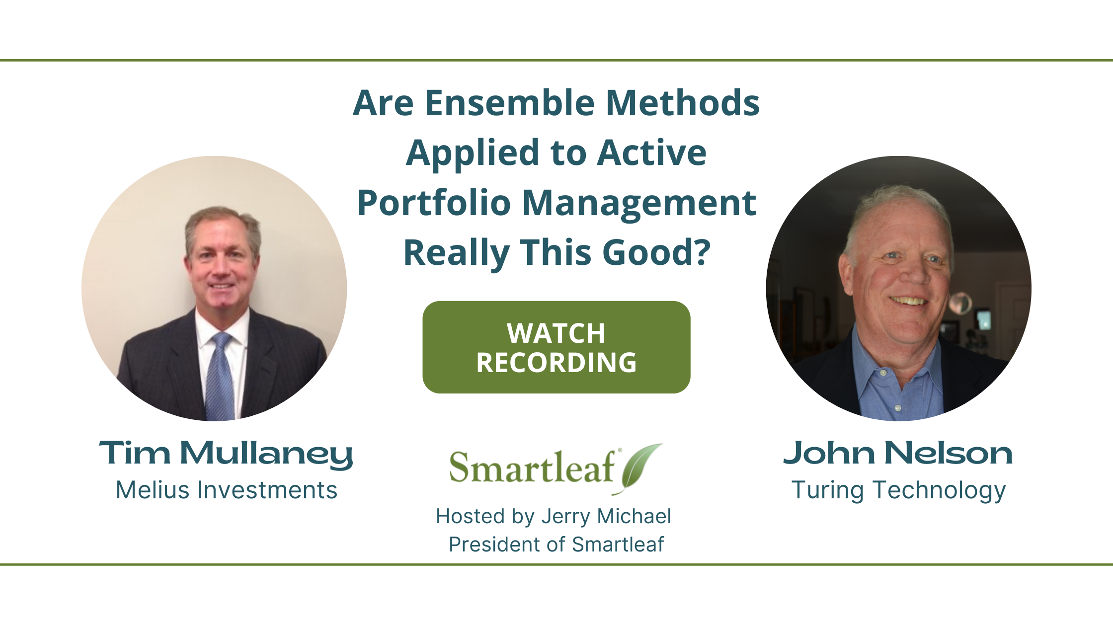 Webinar Recording: Are Ensemble Methods Applied to Active Portfolio Management Really This Good?